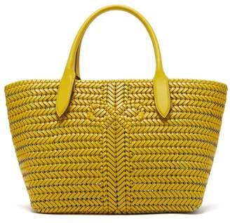 Anya Hindmarch The Neeson Woven Leather Basket Bag - Womens - Yellow