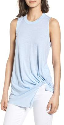Stateside Twist Hem Slub Supima(R) Cotton Tank