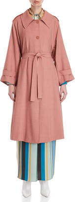 Cavallini Erika Woven Belted Trench Coat