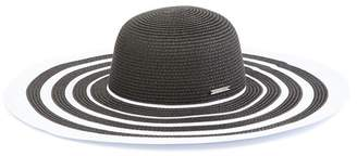 Vince Camuto Ribbon Stripe Floppy Hat