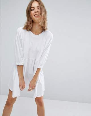 Asos DESIGN Cotton Smock Dress with Elastic Cuff Detail