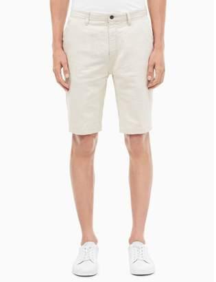 Calvin Klein regular fit cotton linen carpenter shorts