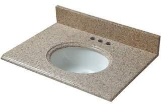 """Cahaba Granite 25"""" Single Bathroom Vanity Top Top"""