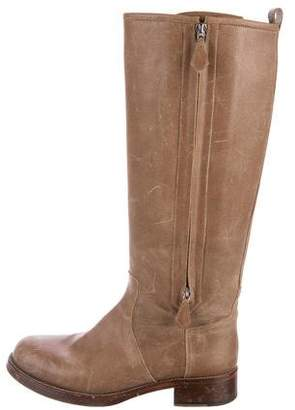 Hermes Distressed Riding Boots