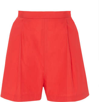 MDS Stripes M'O Exclusive Pleated Gingham Cotton Shorts