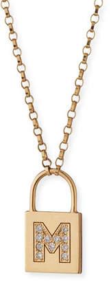Chicco Zoe 14K Padlock Initial Pendant Necklace with Diamonds