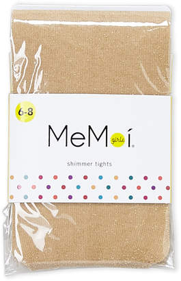 Me Moi Memoi (Girls 7-16) Gold Shimmer Tights