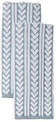 "Nordstrom Rack Chevron Stripe Hand Towels - 54\"" x 28\"" - Set of 2"