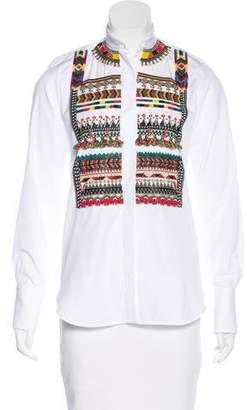 Valentino Embellished Long Sleeve Top
