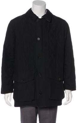 Burberry Quilted House Check-Lined Chore Coat