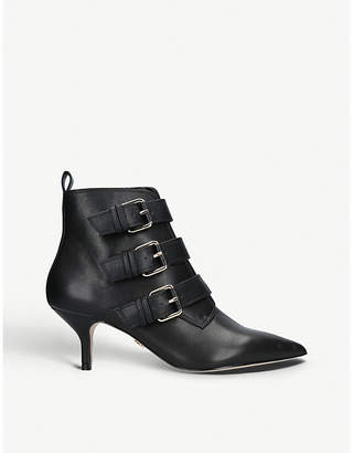 Kurt Geiger London Raya buckled leather ankle boots