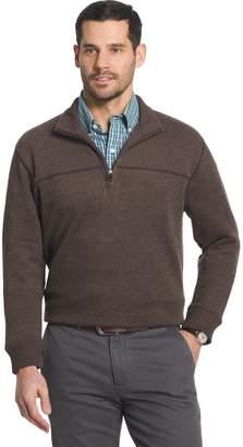 Arrow Big & Tall Classic-Fit Sueded Fleece Quarter-Zip Pullover