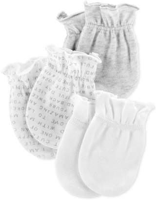 Carter's Baby Boys or Girls 3-Pack Cotton Mittens