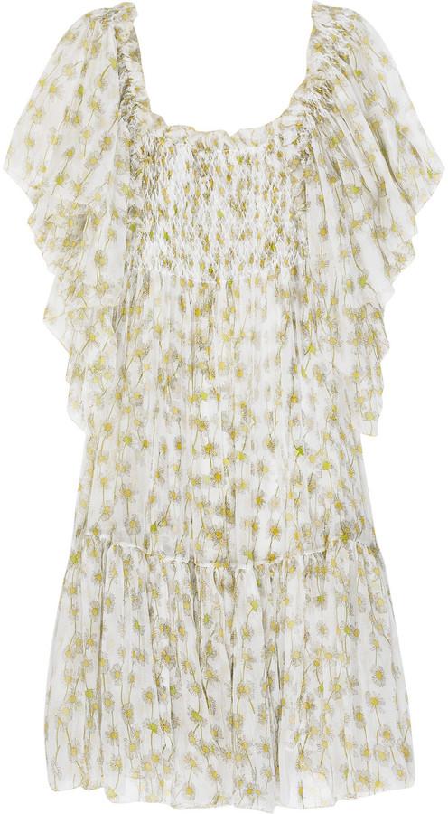 Diane von Furstenberg Flutter sleeve sundress