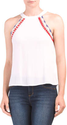 Juniors Crochet Trim Tank