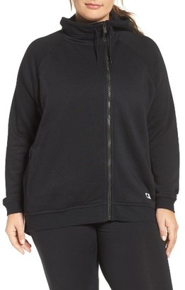 Plus Size Women's Nike Terry Cape Hoodie $80 thestylecure.com