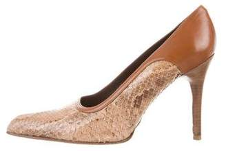Tod's Snakeskin Pointed-Toe Pumps