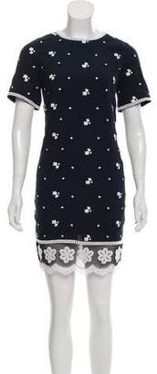 Andrew Gn Silk Floral Embroidered Dress