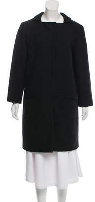 Miu Miu Wool Collarless Coat