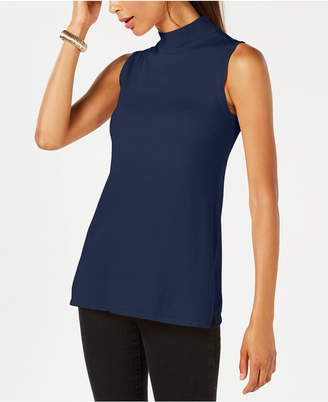 JM Collection Sleeveless Mock-Turtleneck Sweater, Created for Macy's