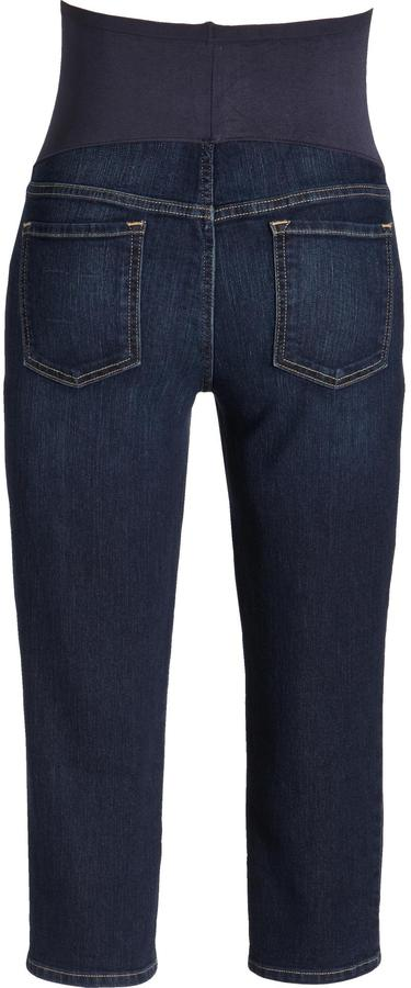 Old Navy Maternity Smooth-Panel Skinny Denim Capris