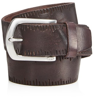 John Varvatos Star USA Scored Edge Belt with Harness Buckle $118 thestylecure.com