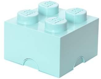 Lego 4 Stud Storage Brick, Aqua