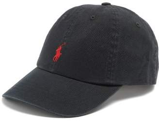 Polo Ralph Lauren Logo Embroidered Cotton Cap - Mens - Black