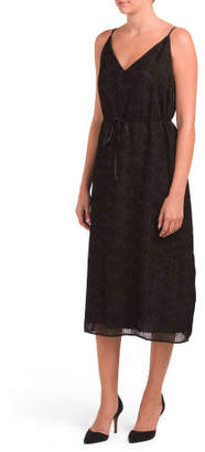 Juniors Alayna Burnout Velvet Midi Dress