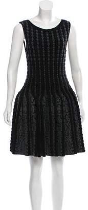 Alaia Wool Fit & Flare Mini Dress