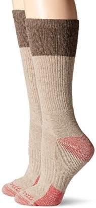 Carhartt Women's 2 Pack Merino Wool Blend Textured Crew Socks