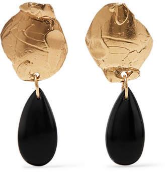 Alighieri - Shadow Of A Woman Gold-plated Onyx Earrings
