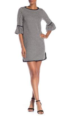 Max Studio Double Knit Jacquard Print Dress