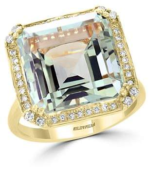 Bloomingdale's Green Amethyst & Diamond Statement Ring in 14K Yellow Gold - 100% Exclusive
