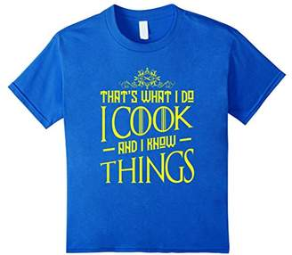 FUNNY COOK AND I KNOW THINGS T-SHIRT Chef Kitchen Food Gift