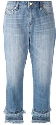 MICHAEL Michael Kors raw hem cropped jeans