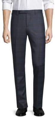 Paul Smith Gents Plaid Wool Trousers