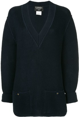 Chanel Pre-Owned long sleeve sweater knitted cotton knit
