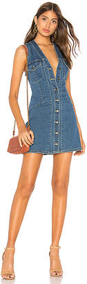 Free People Wandering Star Denim Mini Dress.