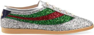 Gucci Falacer glitter sneaker with Web