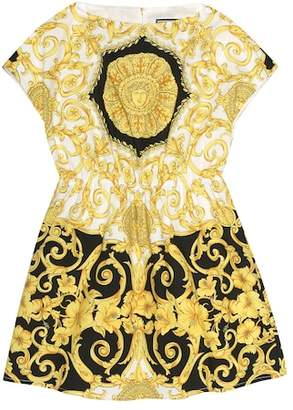 Versace Printed cotton dress