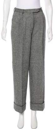 John Galliano High-Rise Herringbone Pants