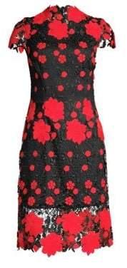 Laundry by Shelli Segal Floral High-Neck Sheath Dress