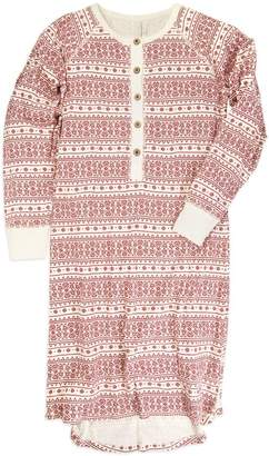 Burt's Bees Fair Isle Organic Adult Womens Holiday Matching Gown