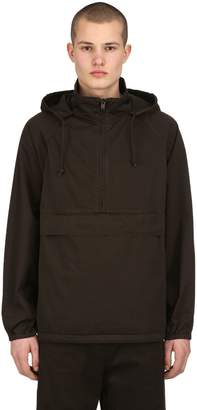 Yeezy Hooded Half Zip Washed Canvas Sweatshirt