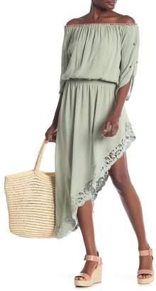 Muche et Muchette Off-the-Shoulder High/Low Midi Dress