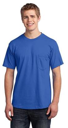 Port & Company All-American Tee with Pocket. Royal. 3XL.