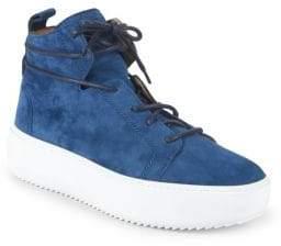 Giuseppe Zanotti Suede Mid-Top Sneakers