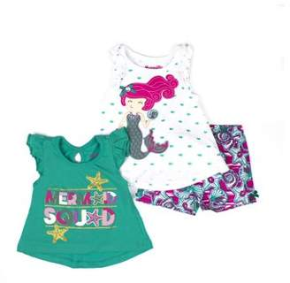 Nannette Baby Toddler T-Shirt, Tank Top & Shorts, 3Pc Outfit Set