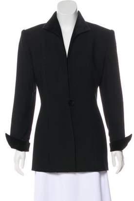 Christian Dior Velvet-Trimmed Coat